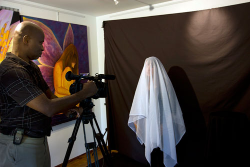 Behind the scenes with David Mackey of Mackeymedia filming Claudette Dean performing Resurrection