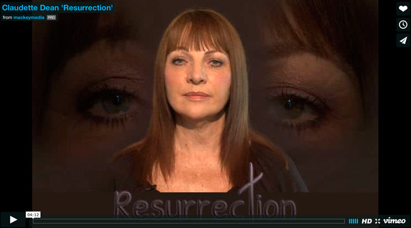 Resurrection Video: Claudette Dean Performance Art Video: 'Resurrection' for NAGB NE6